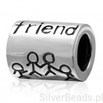 D567 Friend charms koralik beads srebro 925
