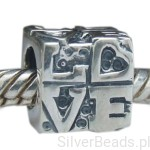 D177 Love charms koralik beads srebro 925