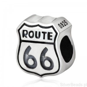 D998 Route 66 charms koralik beads srebro 925